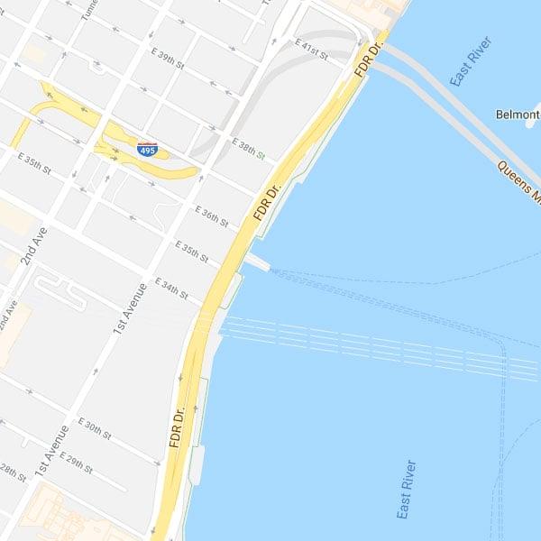 East 35th St , NYC Port | Seastreak Ferries